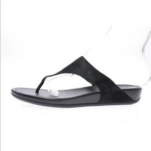 Womens Fitflop Black Thong Sandals